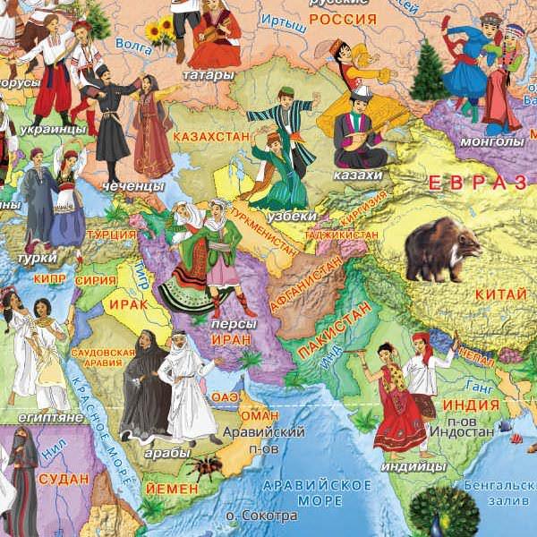 452104 карта страны и народы мира